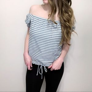 Madewell Melody Stripe Off The Shoulder Top
